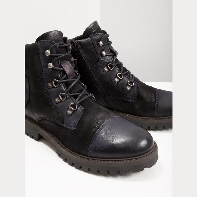 Pánska členková obuv bata, čierna, 896-6664 - 18