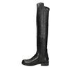 Kožené dámske čižmy nad kolená bata, čierna, 596-6682 - 15