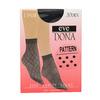 Dámske ponožky so vzorom evona, čierna, 919-6670 - 13