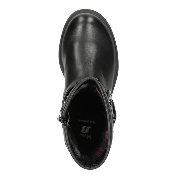 Dievčenské čižmy s cvočkami mini-b, čierna, 291-6398 - 15