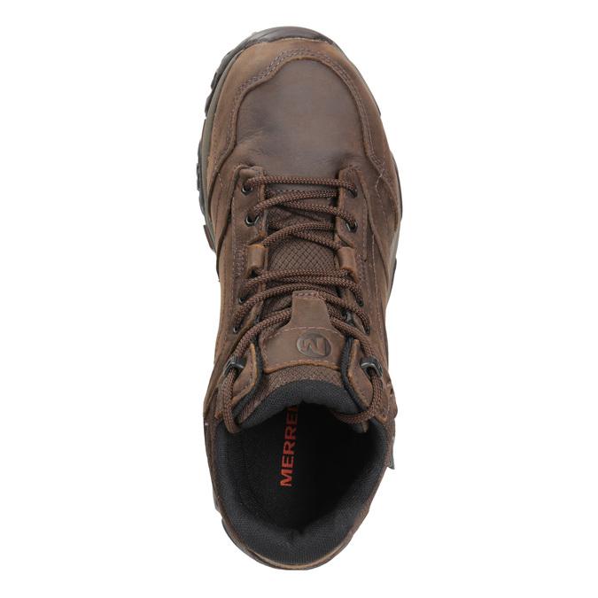 Kožená členková obuv v Outdoor štýle merrell, hnedá, 806-4569 - 15