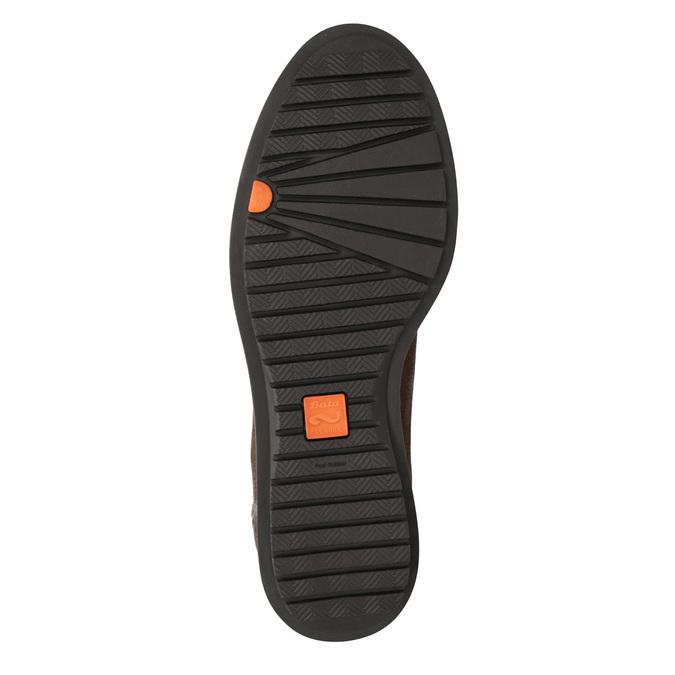 Kožená členková obuv so zipsom flexible, hnedá, 594-4227 - 17