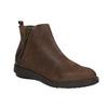 Kožená členková obuv so zipsom flexible, hnedá, 594-4227 - 13