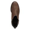 Kožená členková obuv so zipsom flexible, hnedá, 594-4227 - 15