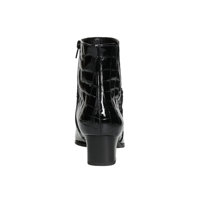 Lakované dámske čižmy gabor, čierna, 618-6002 - 17