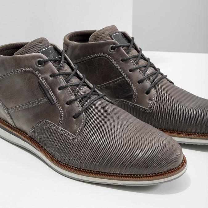 Kožená členková obuv šedá bata, šedá, 826-2912 - 14