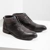 Kožená členková obuv so štruktúrou bata, šedá, 826-2616 - 18