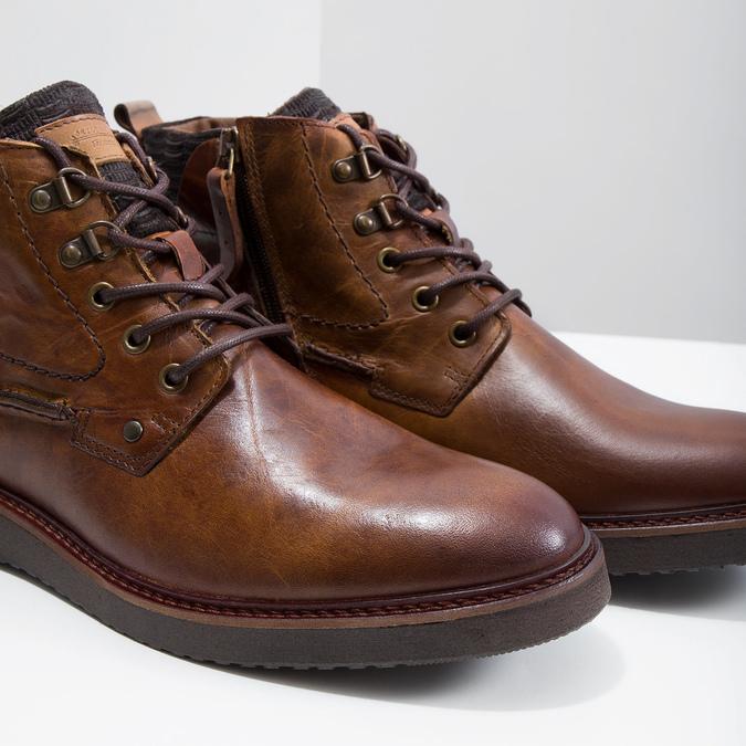 Kožená členková obuv bata, hnedá, 896-3675 - 14