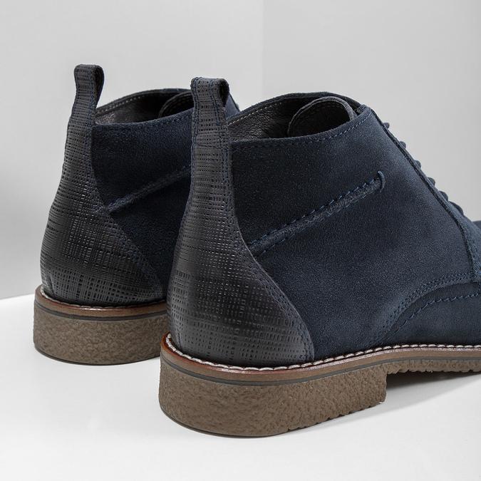 Modrá členková obuv bata, modrá, 823-9615 - 14