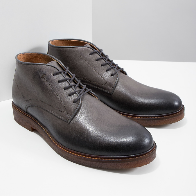 Kožené Chukka Boots bata, šedá, 826-3919 - 18