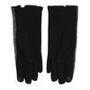 Dámske rukavice s mašličkou bata, čierna, 909-6615 - 16