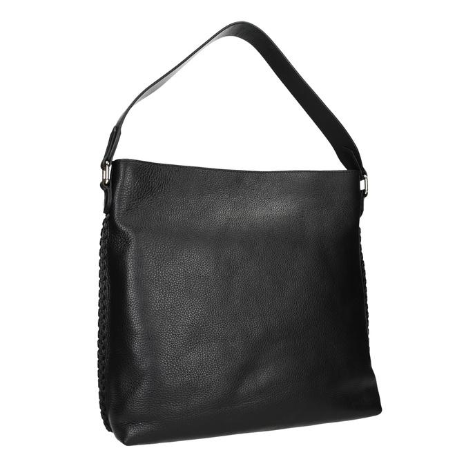 Dámska kožená kabelka bata, čierna, 964-6271 - 13