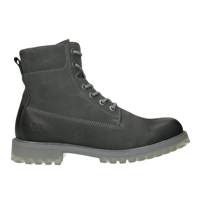 Pánska kožená obuv s výraznou podrážkou weinbrenner, šedá, 896-2702 - 26