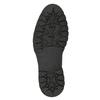 Kožená členková obuv s kožúškom bata, čierna, 594-6656 - 17
