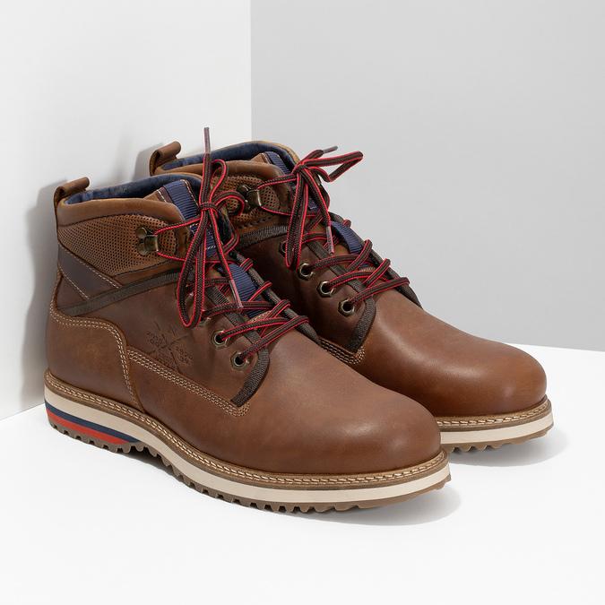 Členková pánska zimná obuv bata, hnedá, 896-3677 - 26