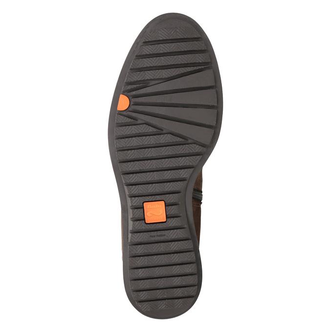 Hnedé kožené čižmy so zipsom flexible, hnedá, 594-4651 - 19