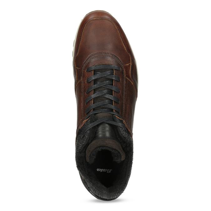 Kožená zimná obuv bata, hnedá, 846-4646 - 17