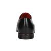 Kožené poltopánky s červenými detailami conhpol, čierna, 824-6993 - 16
