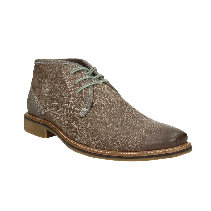 Pánska členková obuv s prešívaním bata, hnedá, 826-4920 - 13