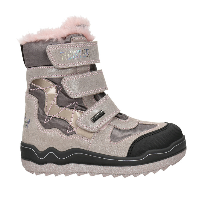 Ružová dievčenská zimná obuv mini-b, červená, 299-5613 - 15