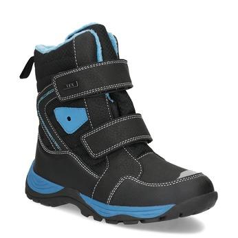 Detská zimná obuv na suchý zips mini-b, čierna, 491-6653 - 13