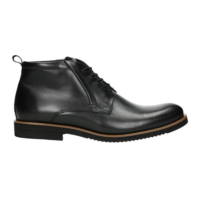 Pánska kožená členková obuv conhpol, čierna, 894-6696 - 26
