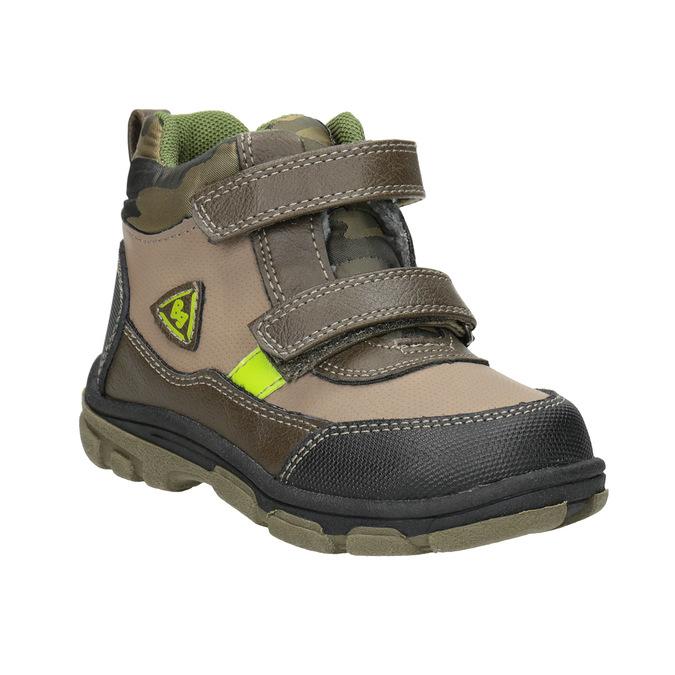 Detská zimná obuv na suchý zips bubblegummers, hnedá, 111-4623 - 13