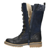 Dievčenská zimná obuv s úpletom mini-b, modrá, 391-9657 - 26