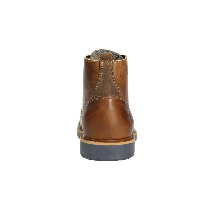Hnedá kožená zimná obuv bata, hnedá, 896-4667 - 17