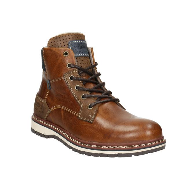 Pánska kožená obuv hnedá bata, hnedá, 896-3666 - 13