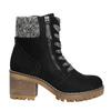 Členková obuv na masivnom podpätku bata, čierna, 699-6633 - 15