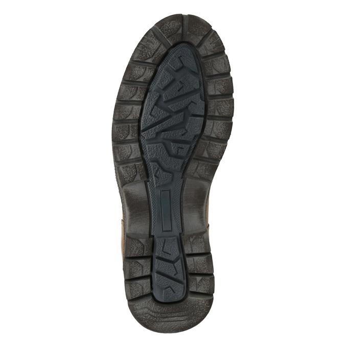 Pánska zimná kožená obuv bata, hnedá, 896-3681 - 17