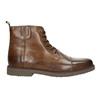 Kožená členková obuv so zateplením bata, hnedá, 896-4662 - 15