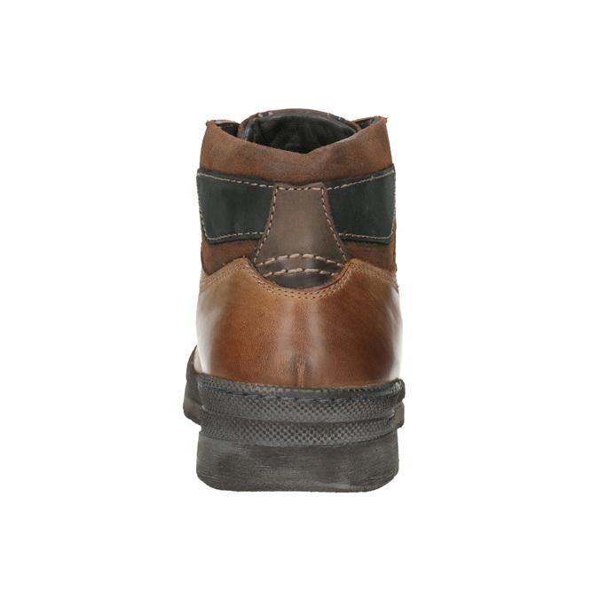 Pánska zimná kožená obuv bata, hnedá, 896-3681 - 16