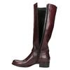 Kožené čižmy s prackou bata, červená, 596-5665 - 26