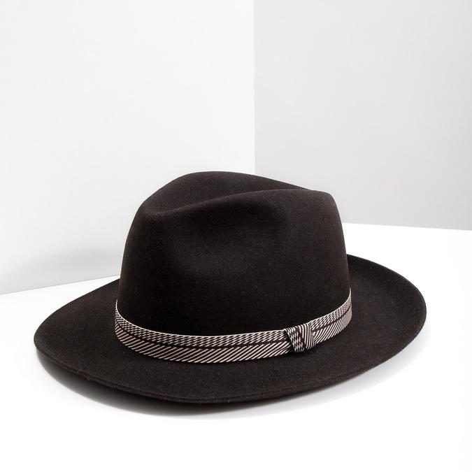 Tmavo hnedý pánsky klobúk tonak, hnedá, 909-4654 - 18