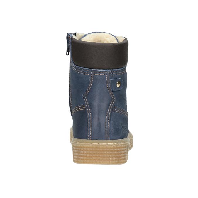 Detská zimná obuv so zateplením mini-b, modrá, 496-9620 - 16