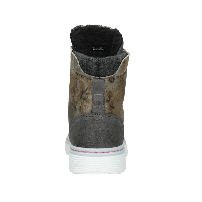 Dámska zimná obuv so zateplením bata, šedá, 596-2684 - 16