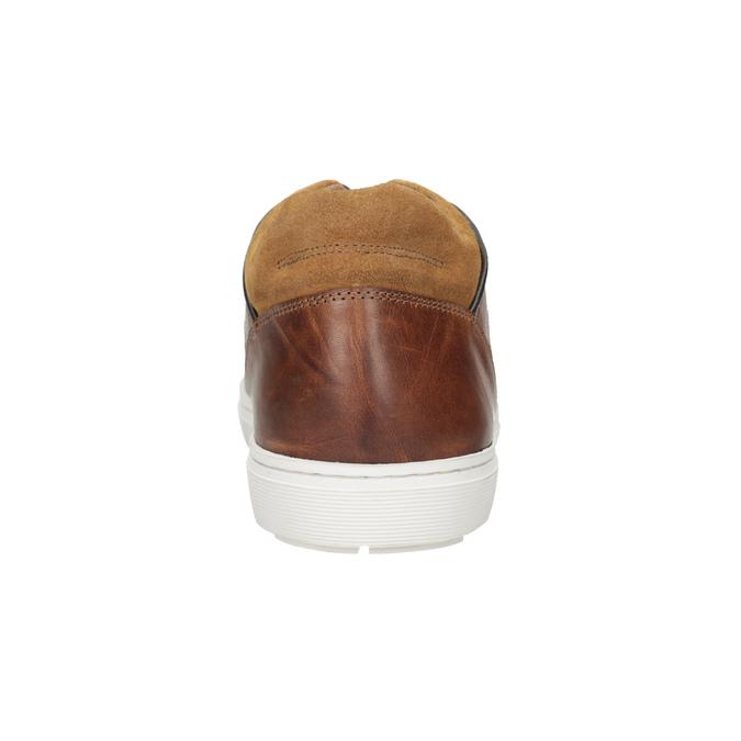 Pánske kožené tenisky bata, hnedá, 846-3643 - 16