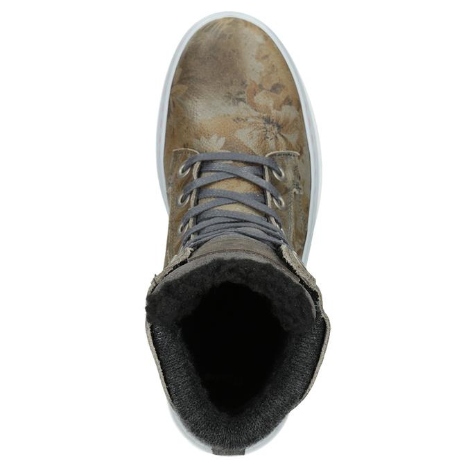 Dámska zimná obuv so zateplením bata, šedá, 596-2684 - 15