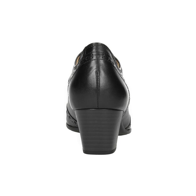Kožené poltopánky na podpätku gabor, čierna, 624-6016 - 16