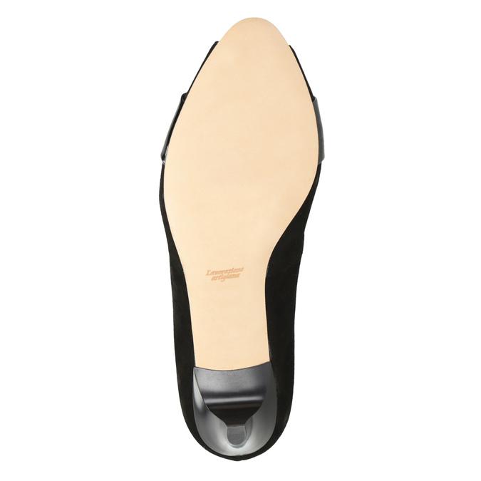 Kožené lodičky s otvorenou špicou bata, čierna, 623-6603 - 17