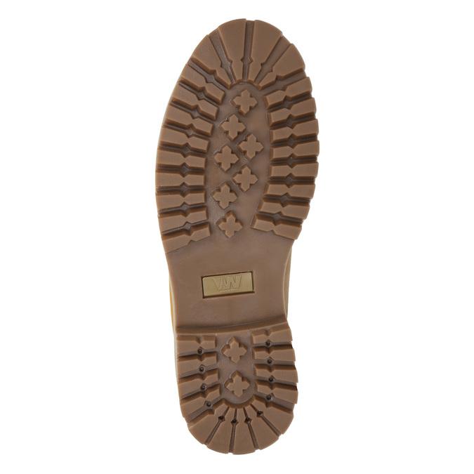 Kožená členková obuv weinbrenner, žltá, 896-8669 - 17