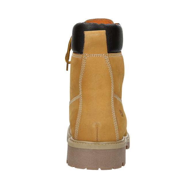 Kožená členková obuv weinbrenner, žltá, 896-8669 - 16
