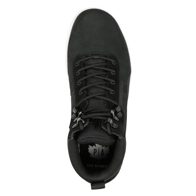 Kožená členková pánska obuv k1x, čierna, 806-6552 - 15