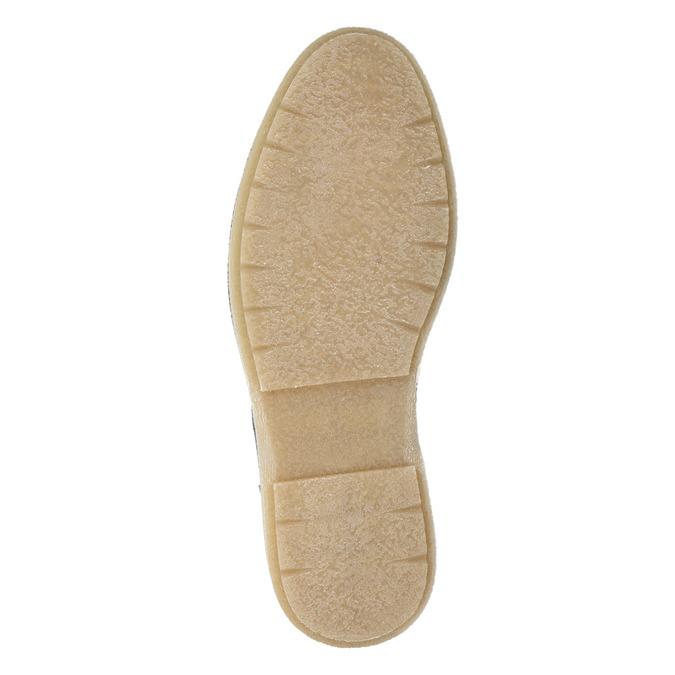 Kožená pánska členková obuv bata, šedá, 896-2669 - 17