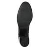 Kožené dámske čižmy na stabilnom podpätku bata, čierna, 694-6637 - 19
