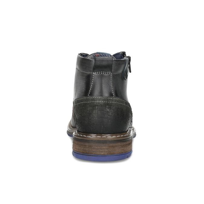 Pánska kožená členková obuv so zipsom bata, šedá, 896-2678 - 15
