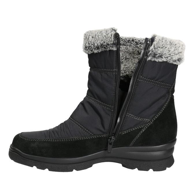 Dámske zimné snehule comfit, čierna, 599-6618 - 26