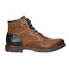 Členková kožená obuv bata, hnedá, 896-3680 - 15